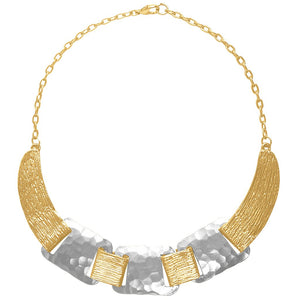 Karine Sultan two tone linked necklace - N63077.02