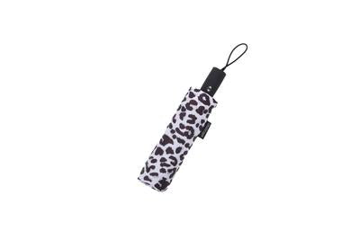 Raincaper Folding Travel Umbrella - Black & White Animal Print