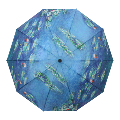 Raincaper Folding Travel Umbrella - Monet Water Lilies