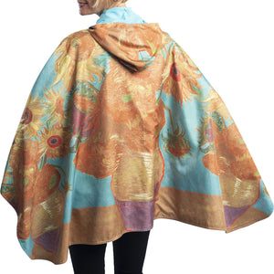 FINE ART RAINCAPER - VAN GOGH SUNFLOWERS TRAVEL CAPE - NEW!