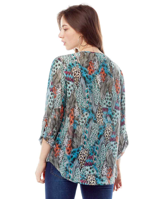 "Tianello: ""HipCat"" Washable Silk Avlyne Blouse SPHC-136-WAS-XS"