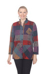 TERRA Tunic T4278 Black/Teal Print #1, Purple Mustard Print #2