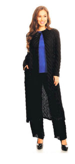 VANITE COUTURE PLEATED DUSTER 58161