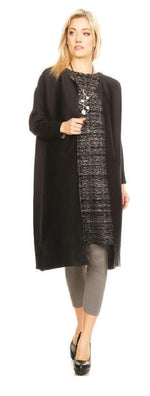 VANITE COUTURE PLEATED REVERSIBLE LONG CARDIGAN 81288