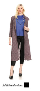 VANITE COUTURE LONG PLEATED CARDIGAN 80802
