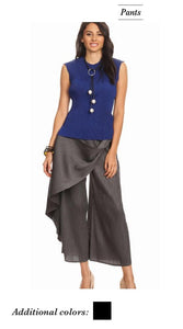 VANITE COUTURE PLEATED LAYERED PANT 2594