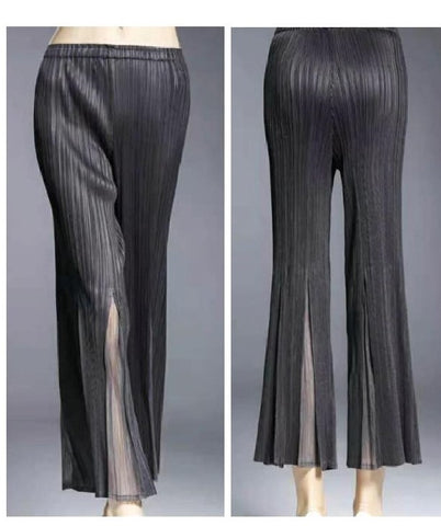 VANITE COUTURE PLEATED FLARED CROPPED PANT 8701