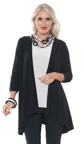 ALISHA D TRAVEL WEAR OPEN FRONT DRAPE CARDIGAN ADT-019