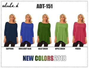 ALISHA D TRAVEL WEAR TOP ADT-151 SUMMER COLORS