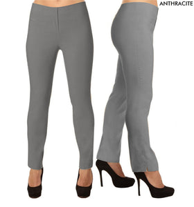 Lior Lize Grey Long Pull Up Stretch Pant - Anthracite