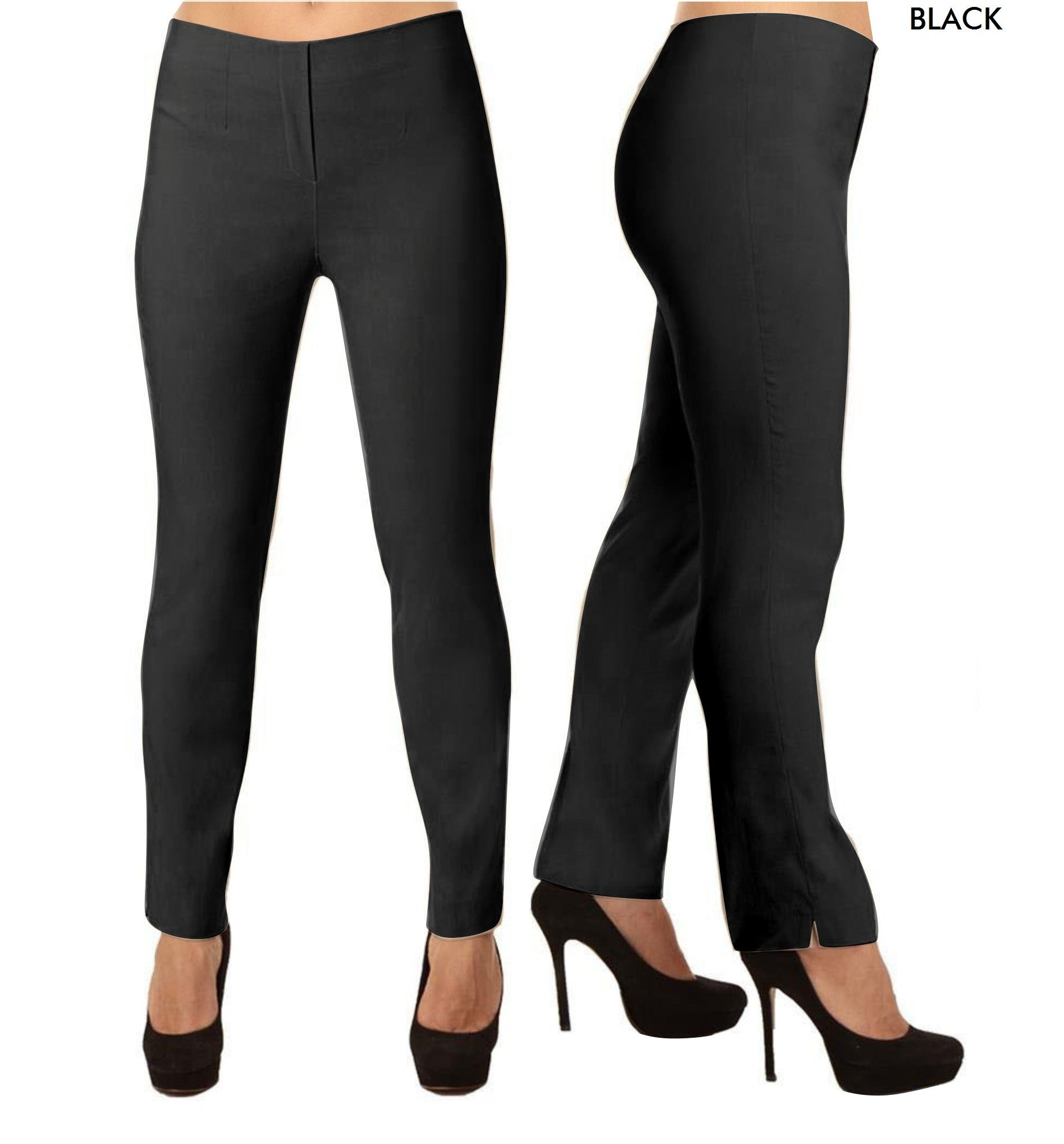 Lior Lize Black Long Pull Up Stretch Pant