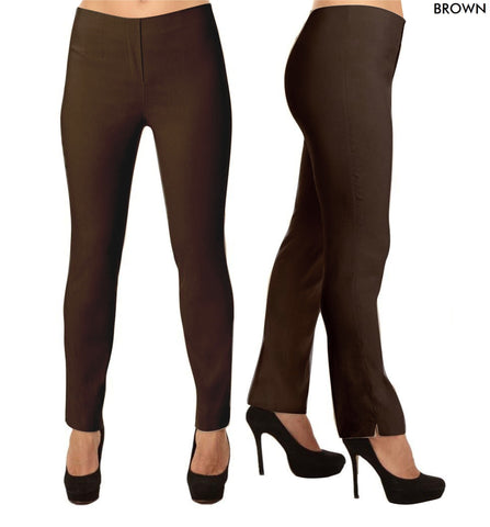 Lior Lize Brown Long Pull Up Stretch Pant