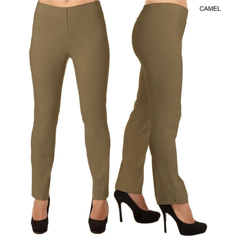 Lior Lize  Brown Long Pull Up Stretch Pant - Camel