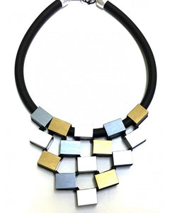 CHRISTINA BRAMPTI CUBES TIERED NECKLACE CB-1638D