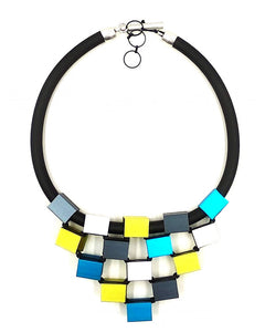 CHRISTINA BRAMPTI CUBES TIERED NECKLACE CB-1638L
