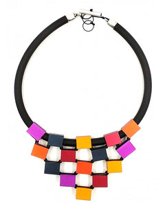 CHRISTINA BRAMPTI CUBES TIERED NECKLACE CB-1638N