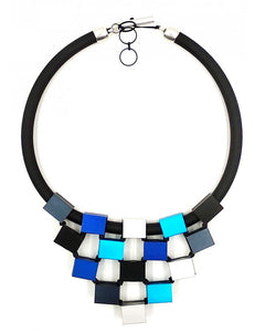 CHRISTINA BRAMPTI CUBES TIERED NECKLACE CB-1638O