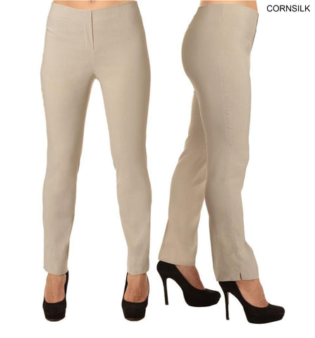 Lior Lize Beige Long Pull Up Stretch Pant - Cornsilk