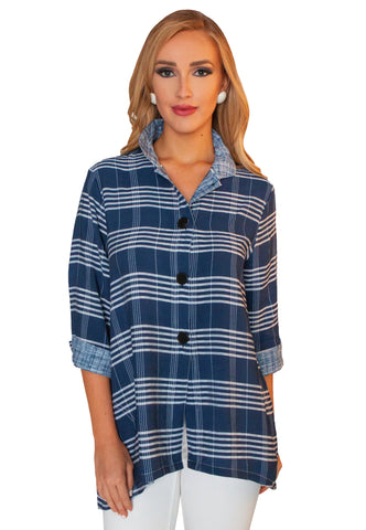 LIOR BUTTON DOWN TUNIC SHIRT DEMI-14
