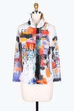 DAMEE NYC GRAFFITI PAINT MESH TWIN SET JACKET 31392-MLT