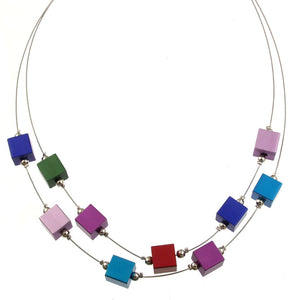 Color Cubes Magnetic Jewelry Necklace 5144-2