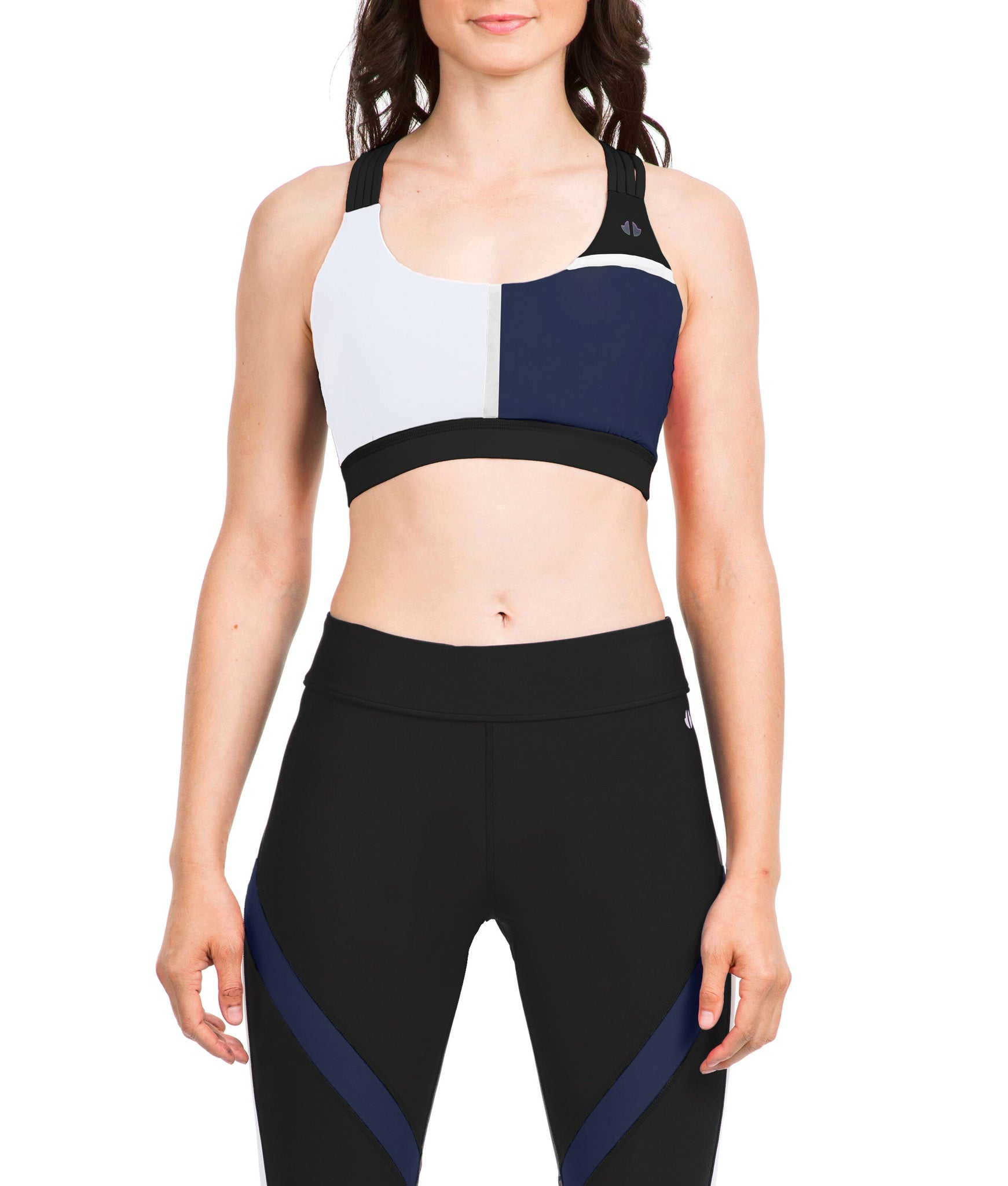Thrive Societe Black Blue Scoop Bra