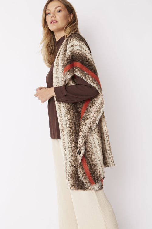 Cashmere & Silk Blend Animal Print Wrap Product Code: CSW75A-09