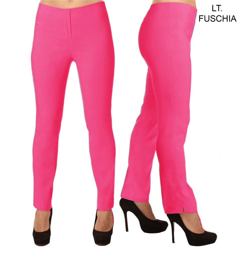 Lior Lize Pink Long Pull Up Stretch Pant - Fuschia