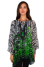 LIOR SHEER FLARED  PRINT COVER UP S1008-0108