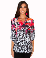 LIOR MULTI COLOR BUTTON DOWN SHIRT TOP 645-3
