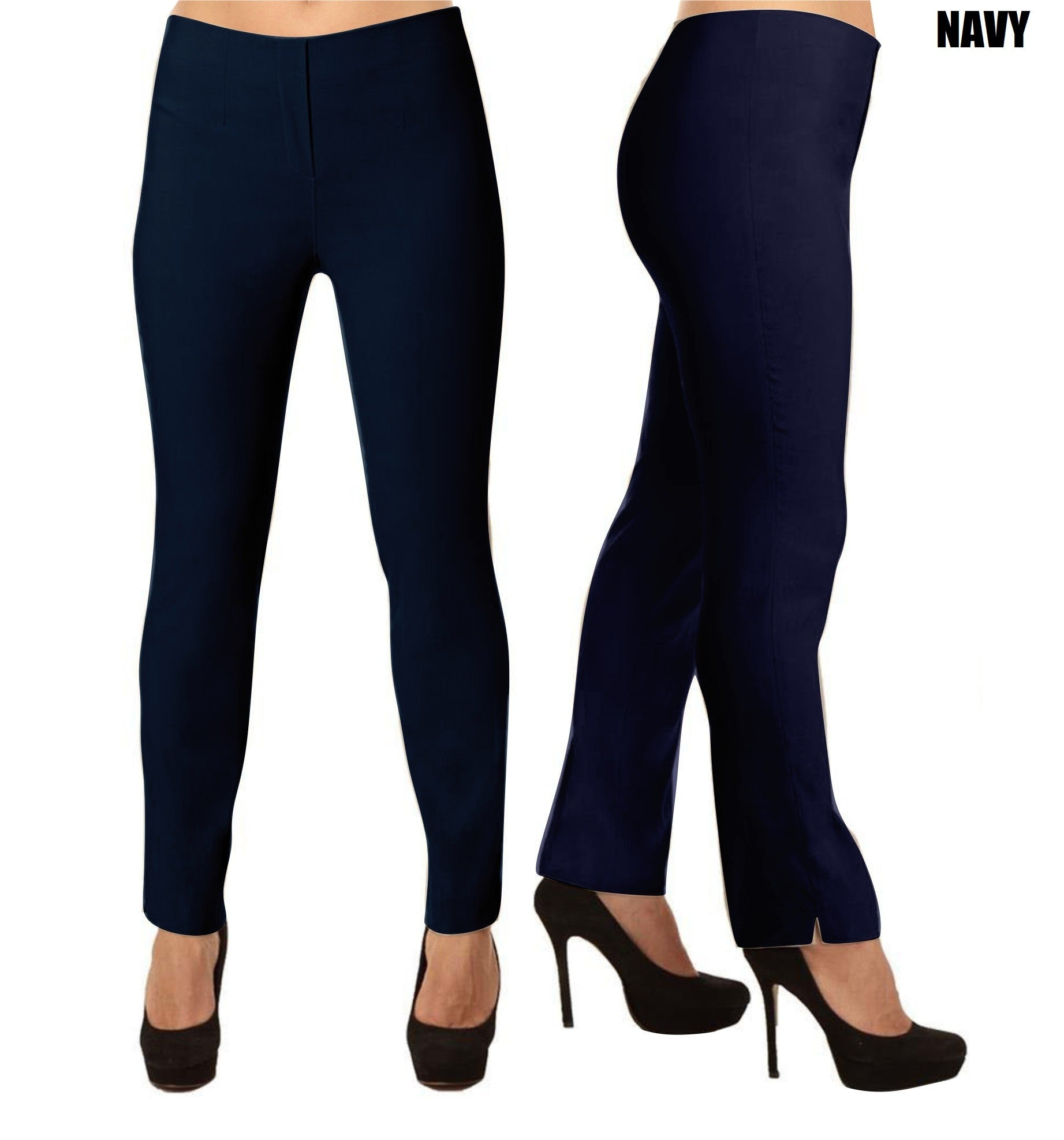 Lior Lize Navy Blue Long Lize Pull Up Stretch Pant