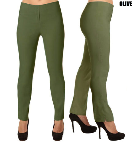 Lior Lize Green Long Pull Up Stretch Pant - Olive