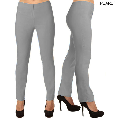 Lior Lize Grey Long Pull Up Stretch Pant - Pearl
