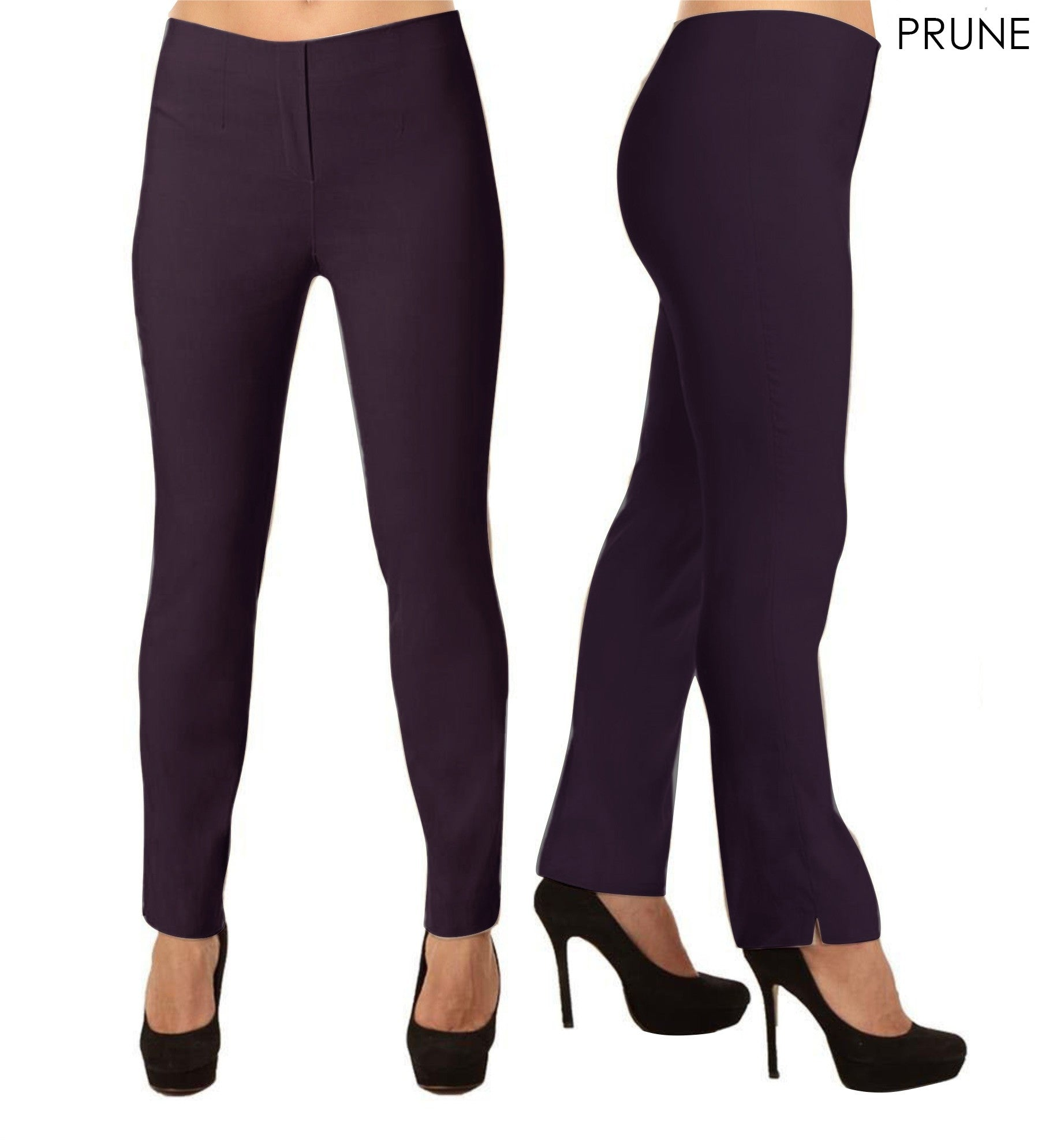 Lior Lize Purple Long Pull Up Stretch Pant - Prune