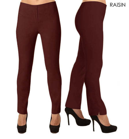 Lior Lize Red Pull Up Stretch Long Pant - Raisin
