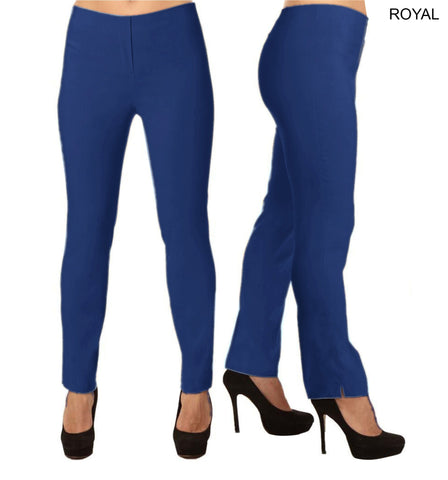 Lior Lize Blue Long Pull Up Stretch Pant - Royal