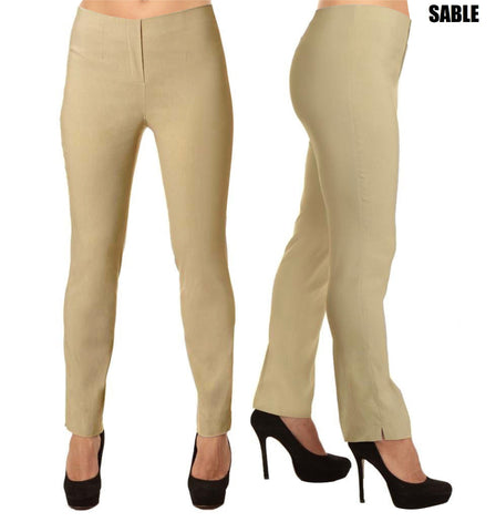 Lior Lize Beige Long Pull Up Stretch Pant - Sabel