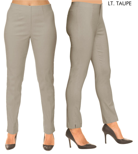 Lior Sasha Taupe Pull Up Stretch Pant