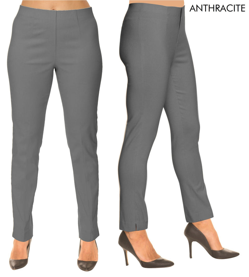 Lior Sasha Grey Pull Up Stretch Pant - Anthracite