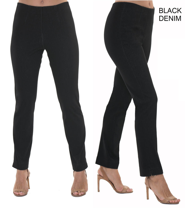 Lior Sasha denim pull on pant, BLACK, BEST SELLER