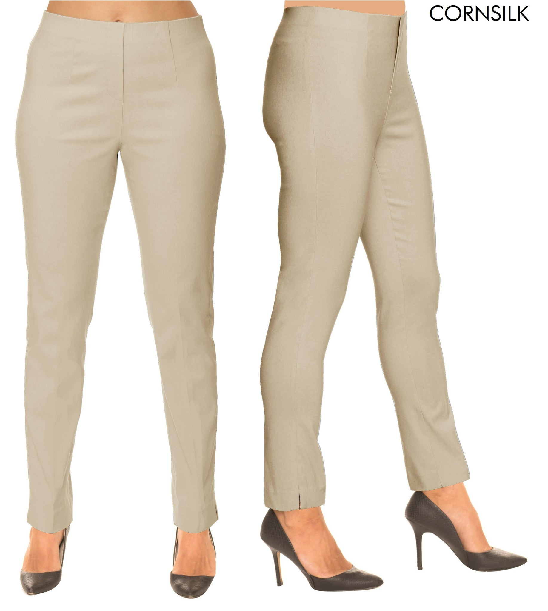 Lior Sasha Cornsilk Pull Up Stretch Pant