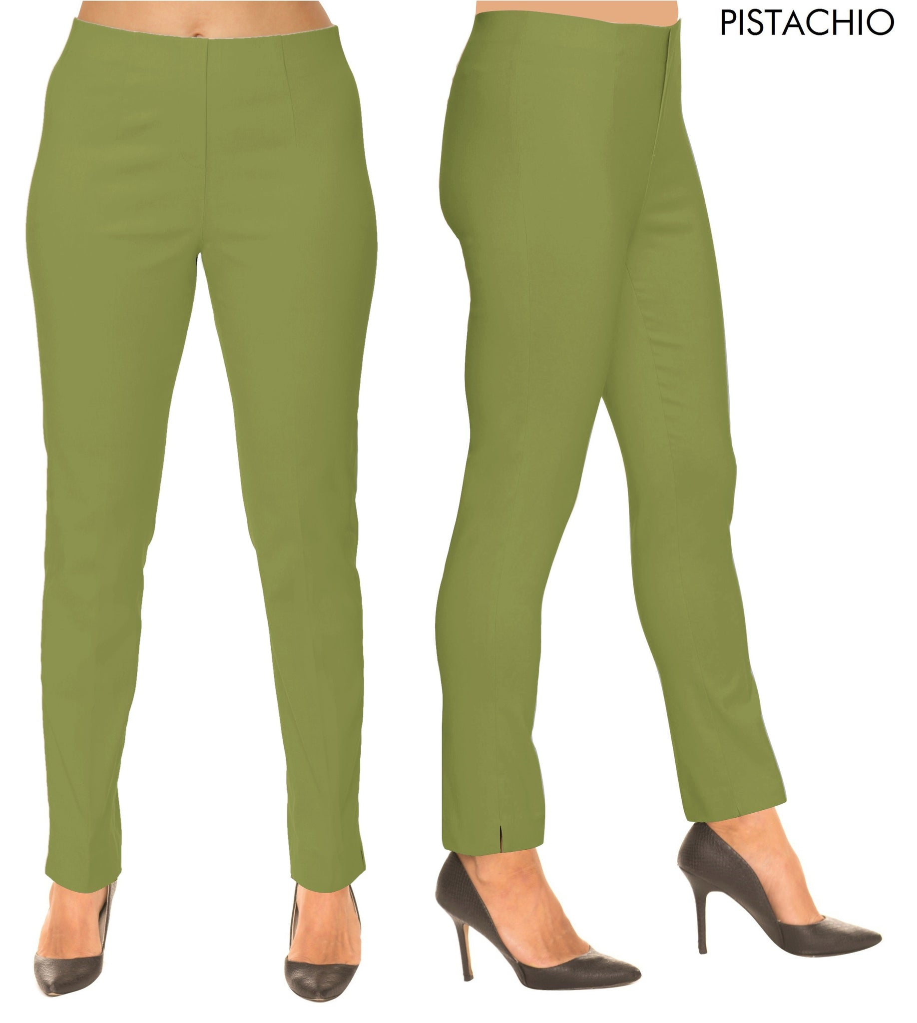 Lior Sasha Green Pull Up Stretch Pant - Pistachio