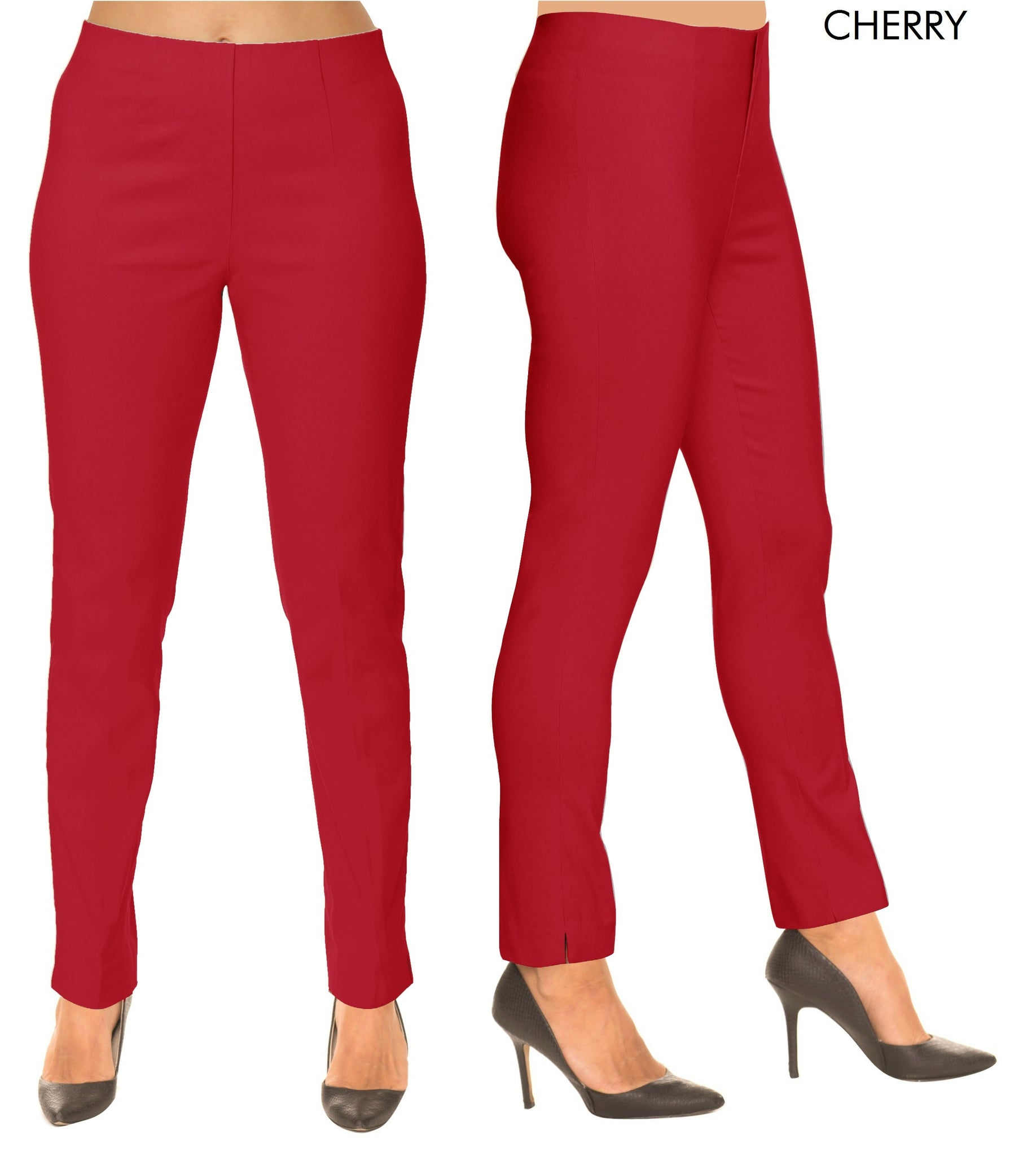 Lior Sasha Red Pull Up Stretch Pant