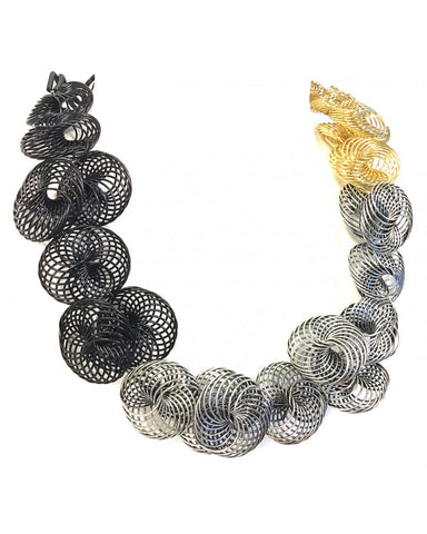 SANDRINE GIRAUD NECKLACE SGP - ESCARGOT 2 - 3 TONE GOLD