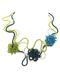 SANDRINE GIRAUD BOUQUET NECKLACE SGP - FIREWORKS - BLUE/GREEN