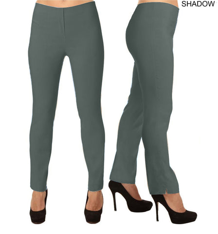 Lior Lize Dark Grey Long Pull Up Stretch Pant - Shadow