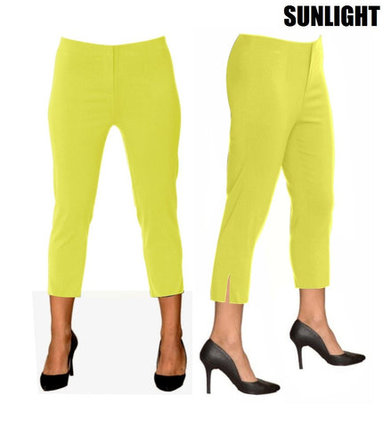 Lior Sidney Yellow Pull Up Stretch Cropped Pant - Sunlight