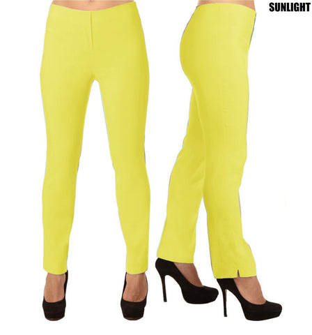 Lior Lize Yellow Pull Up Stretch Long Pant - Sunlight