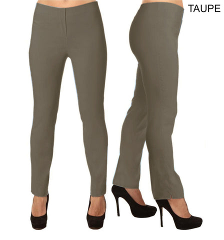 Lior Lize Taupe Pull Up Stretch Long Pant