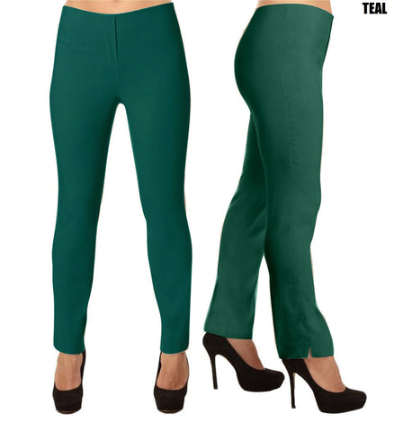 Lior Lize Teal Pull Up Stretch Long Pant
